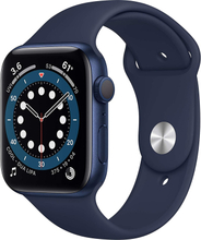 Watch Series 6 (6. Gen 2020) GPS 44mm Blå Gummirem Deep Navy