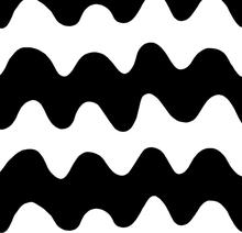 Lokki kangas musta-valkoinen