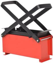 vidaXL Brikettipuristin teräs 34x14x14 cm musta ja punainen
