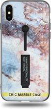 Modeskal med fingerhållare till iPhone X/XS med motiv av stjärnhimmel