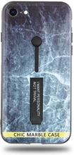 Modeskal med fingerhållare till iPhone 7/8 med marmor av djupt hav
