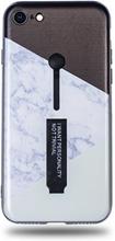 Modeskal med fingerhållare till iPhone 7/8 med vinklad marmor