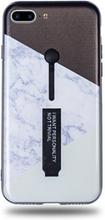 Modeskal med fingerhållare till iPhone 7/8 Plus med marmor i vinklar