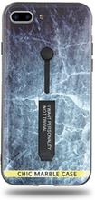 Modeskal med fingerhållare till iPhone 7/8 Plus med marmor av djupt hav
