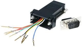 StarTech.com DB9 to RJ45 Modular Adapter - M/F - Serial adapter - DB-9 (M) to RJ-45 (F) - GC98MF - Seriell adapter - DB-9 (hann) til RJ-45 (hunn) - f