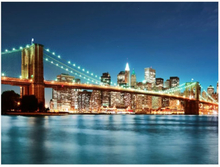 Scandinavian Artstore Fototapet - Mousserande Brooklyn Bridge - 200x154 cm