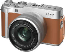 Fujifilm X-A7 Digitalkameras mit 15-45mm f/3.5-5.6 OIS PZ - Camel (International Ver.)