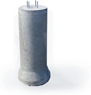 Fundament för bilspärr Fundament betong