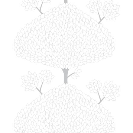 Tusenblad stoff hvit