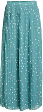 VILA Dotted Pleated Maxi Skirt Women Blue