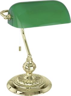 Bordlampe EGLO Banker Traditional 90967 E27 60 W Halogen Messing, Grøn