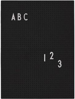 Design Letters Message Board A4 (Svart)