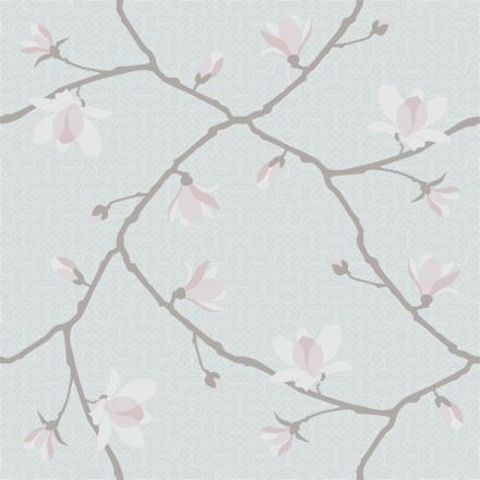 Magnolia Jubileum tapetti vaaleansininen