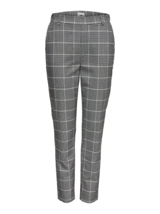 ONLY Checked Ankle Trousers Women Black