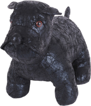 Gilbert Gilbert Hund Bulldog Skinnimitation Svart