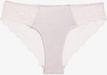 Satin and lace briefs - Pink