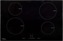 vidaXL induktionskogeplade 4 varmezoner touch-panel glas 77 cm 7000 W
