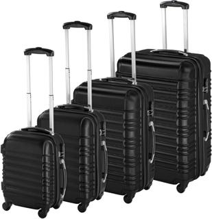 TecTake Resväskor ABS 4-set svart