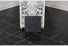 Carrara Black Mat klinke 15x15 cm