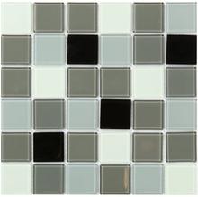 Krystalmosaik Black White & Grey klinke 30x30 cm