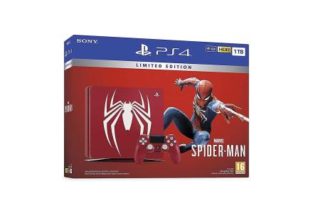 Begrenset opplag utrolig røde Marvels Spider-Man 1TB PS4