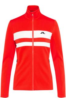 J.LINDEBERG Sitkin Striped Tech J. Jacket Women Red