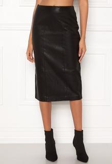 New Look PU Pencil Skirt Black XS (UK8)