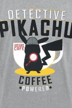 Pokemon - Meisterdetektiv Pikachu - Coffee -T-skjorte - gråmelert