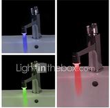 Vattendriven LED-lampa för Kranar (Plast, krom-fin