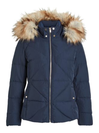 VILA Quilted, Down Jacket Women Blue