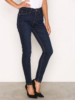 River Island River Island Amelie Terry Regular Length Jeans Skinny Dark Denim