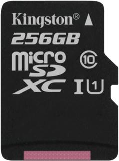 Kingston 256GB microSDXC Canvas Select 80R CL10 UHS-I Single Pk no Ada