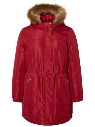 JUNAROSE Long Parka Jacket Women Red