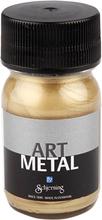 Art Metal maling, lys guld, 30ml