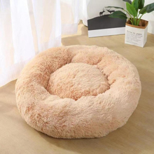 Winter Warm Round Plush Cat Dog Bed House Darkgray 40cm