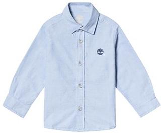 Timberland Light Blue Timberland Logo Cotton Shirt 14 years