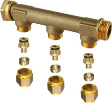 """UPONOR FORD.RØR 3/4""""OMLØBER 3X15 C/C50MM"""