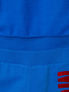 Moschino Kids logo print tracksuit set - Blue