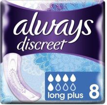 Always Sanitary Napkin - Discreet Long Plus 8 Pieces