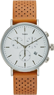 Timex THE FAIRFIELD Kronograf white/brown