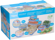 Food Storage Boxes / Fresh Food Trays - 16 pieces Plastic