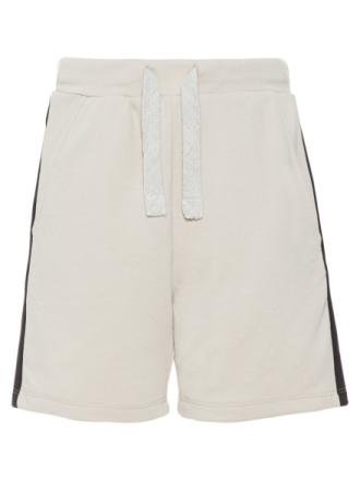 NAME IT Teen Regular Fit Panel Stripe Sweat Shorts Men Beige