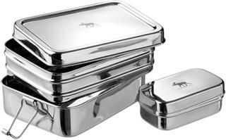 Pulito 3 i 1 madkasse i rustfrit stål - str. M