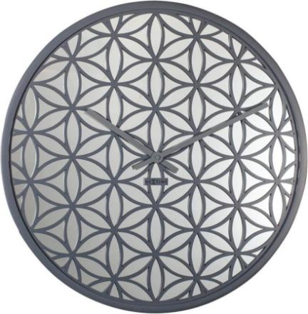 NEXTIME - Bella Mirror Väggklocka - Grå/Vit, 50 cm
