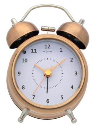 NEXTIME - Wake Up Alarmklocka - Koppar/Silver