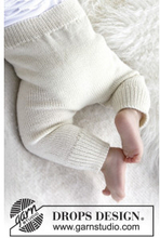 Cozy and Cute by DROPS Design - Baby Byxor Stick-mönster strl. 1/3 mdr