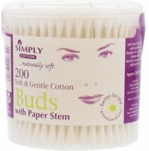 Simply Cotton Soft & Gentle Paper Stem Vatpinde 200 stk