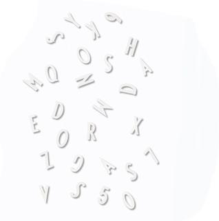 Design LettersSmå bokstäver/nummer Box Vit