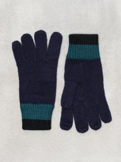 Topman Navy W/ Cuff Stripe Gloves Hansker og votter Navy