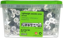 ESSVE CorrSeal TX30 Lättbetongskruv 8,0x90mm, 100-pack